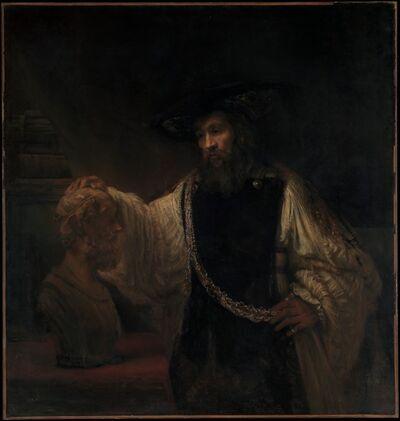 Rembrandt van Rijn, 'Aristotle with a Bust of Homer', 1653