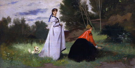 Anselm Feuerbach, 'Landscape with two Women', 1867