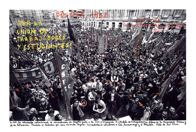 """Marcelo Brodsky, 'From the series """"1968, the fire of the ideas"""", Bogotá, 1968', 1968-2015"""