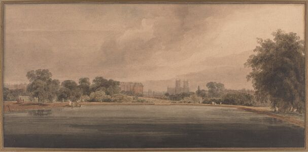 Thomas Girtin, 'St. James' Park with a View of Westminster Abbey'