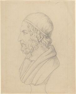 John Flaxman, 'Classical Portrait Bust of a Bearded Man'