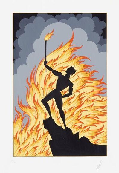 Erté (Romain de Tirtoff), 'Earth, Water and Fire', 1984