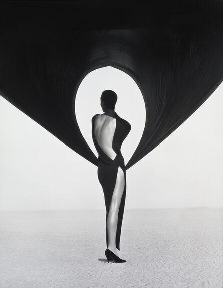 Herb Ritts, 'Versace Dress, Back View, El Mirage', 1990