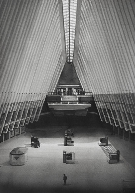 Radenko Milak, 'A person walks through the empty Oculus transit hub at One World Trade Center on March 22, 2020 in New York City', 2021