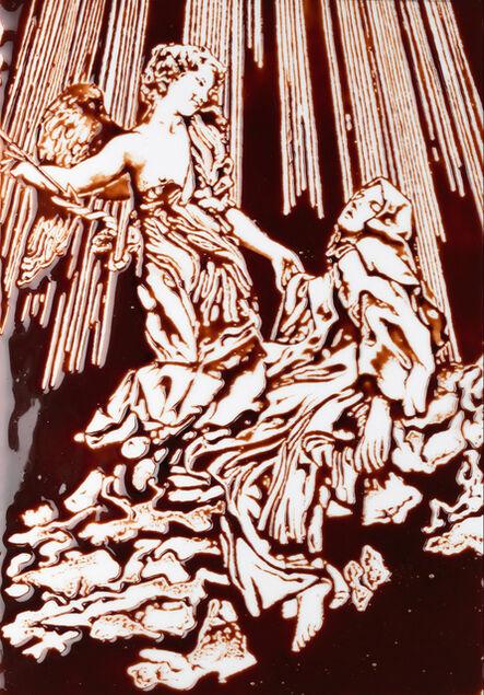 Vik Muniz, 'Extasis de Sta. Teresa, según Bernini. Pinturas de chocolate', 2015