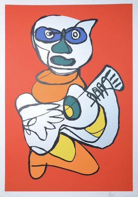Karel Appel, 'Red cat singing hands', 1978