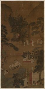 Copy of Qiu Ying, 'Elegant Gathering In the Western Garden', about 1600