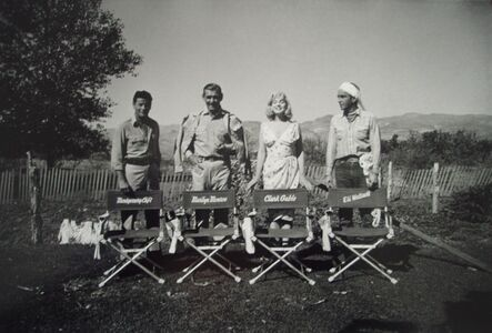 Eve Arnold, 'Eli Wallach, Clark Gable, Marilyn Monroe and Montgomery Clift fool around during filming of the Misfits in Nevada', 1960
