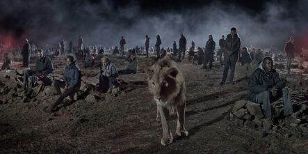 Nick Brandt, 'Savannah with Lion & Humans ', 2018