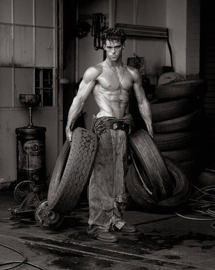 Herb Ritts, 'Fred with Tires', 1984