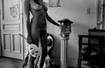 Liliana Maresca, 'Untitled. Liliana Maresca with her artworks.', 1983