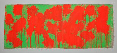 Ushio Shinohara 篠原 有司男, 'Red on Green – May 28, 2009', 2014