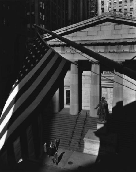 Berenice Abbott, 'Treasury Building from J.P. Morgan's Office', 1935