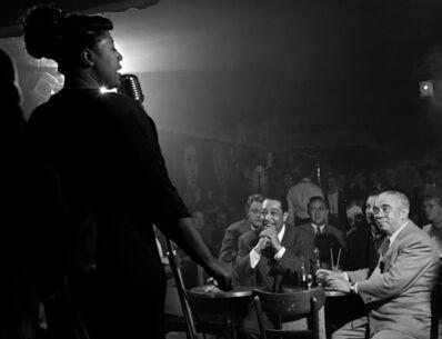 Herman Leonard, 'Ella Fitzgerald, Duke Ellington, Benny Goodman, Downbeat Club, 52nd St., NYC', 1948