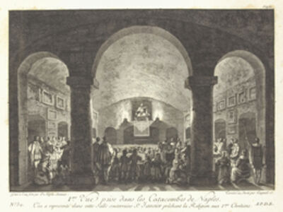 Jean Claude Richard de Saint-Non (author), '[Vue des catacombes de Naples]', 1781-1826
