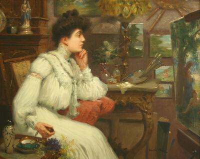 Maurice Chabas, 'L'Élegante dans l'Atelier', Late 19th Century
