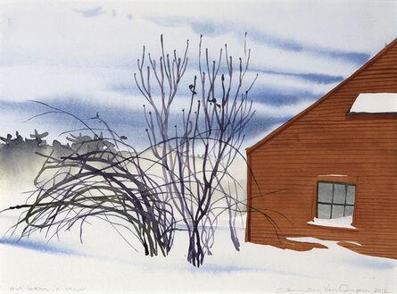 Susan Headley Van Campen, 'Our Barn in Snow'