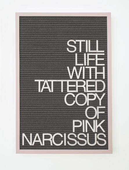 Maynard Monrow, 'Untitled / Pink Narcissus', 2016