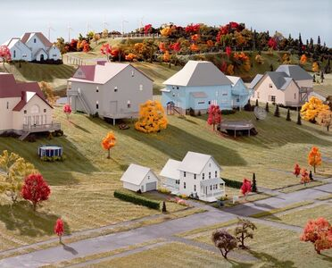 James Casebere, ' Landscape with Houses (Dutchess County, NY) #8', 2010