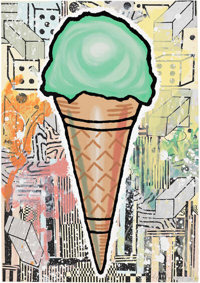 Donald Baechler, 'Green Cone', 2007