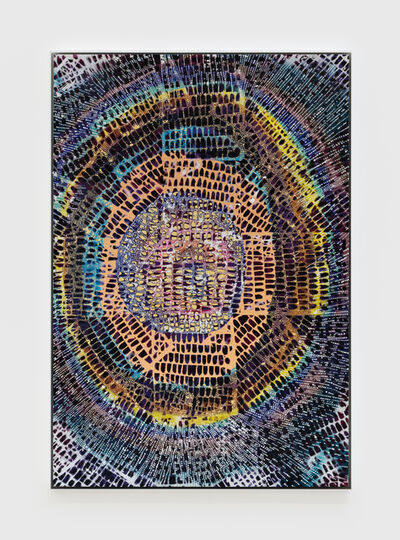 Mindy Shapero, 'Scar of Midnight Portal (copper inside, gold and silver out) ', 2021