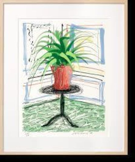 David Hockney, 'Untitled 468 from The Bigger  Book-Art edition, with book and stand-original crate never been opened', 2016