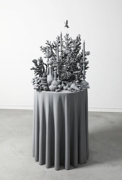Hans Op de Beeck, 'Vanitas Table (the coral piece)', 2021
