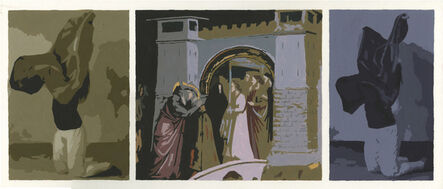 Sean Cain, 'Two Figures in Brown and Violet with Giotto', 2017