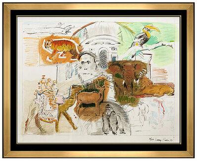 Larry Rivers, 'Larry Rivers Large Color Silkscreen Bronx Zoo Hand Signed Modern Pop Animal Art', 1970-1989