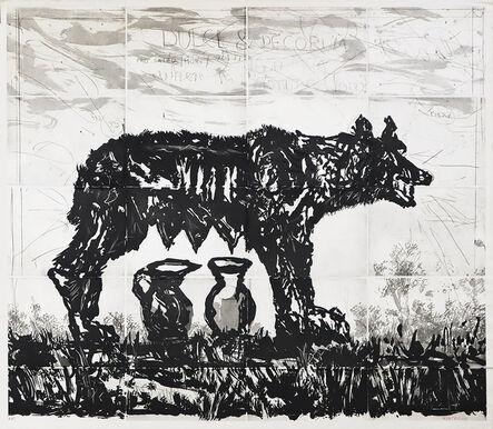 William Kentridge, 'She-wolf and Jugs', 2020