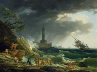 Claude-Joseph Vernet, 'A Storm on a Mediterranean Coast', 1767