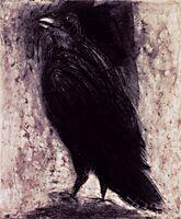 Jim Dine, 'Raven on White Paper', 1994