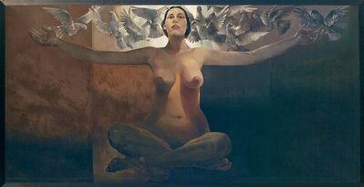 Jamil Naqsh, 'Women & Pigeons ', 1980-1985