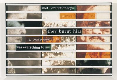 Sue Williamson, 'Truth Games: Nomonde Calata –was everything to me – Harold Snyman', 1998