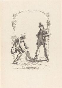 Adolf Schrödter, 'Peter Schlemihl Sells His Shadow', 1836