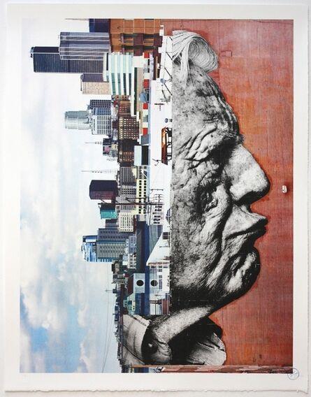 JR, 'The Wrinkles of the City, Robert Upside Down', 2012