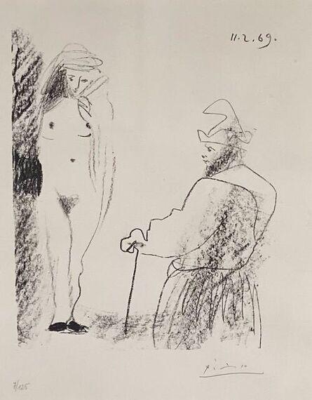 Pablo Picasso, 'Femme Nue et Homme a la Canne', 1969