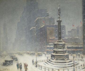 Guy Carleton Wiggins, 'Columbus Circle', 1936