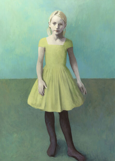 Claerwen James, 'Girl With Pale Hair and a Pale Green Dress', 2018