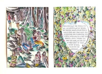 Katie Pell, 'Tree Book: Clubhouse Diptych', 2010