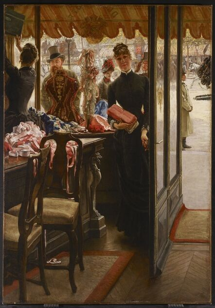 James Jacques-Joseph Tissot, 'The Shop Girl (La demoiselle de magasin)', ca. 1883-1885