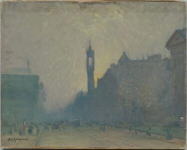 Arthur Clifton Goodwin, 'Sunset on Boylston Street, Boston'