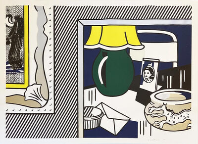 Roy Lichtenstein, 'Two Paintings: Green Lamp from the Paintings series', 1984