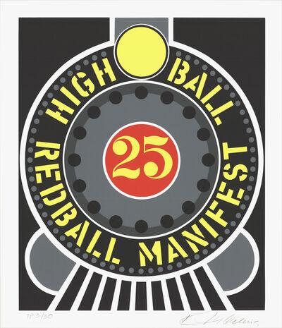 Robert Indiana, 'Highball on the Redball Manifest', 1997