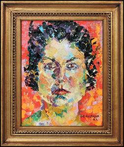 John E. Costigan, 'John Costigan Original Oil Painting on Canvas Signed Female Portrait Framed Art', 20th Century