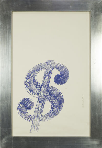 Andy Warhol, '$ Sign (Blue) - 1982', 1982