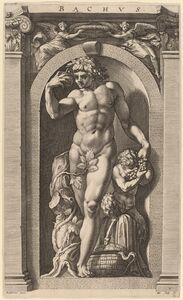 Hendrik Goltzius after Polidoro da Caravaggio, 'Bacchus', probably 1592