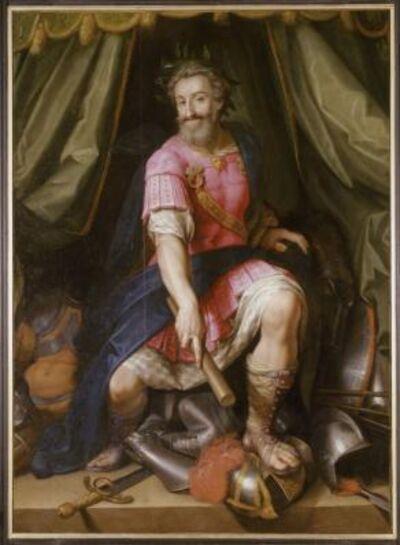 """Jacob Bunel, 'Le portrait d'Henri IV """"en Mars"""" (Portrait of Henri IV """"as Mars"""")', c. 1605-1606"""