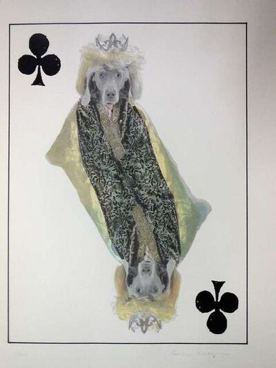 William Wegman, 'Photo Lithograph Royal Flush Queen Dog', 1990-1999