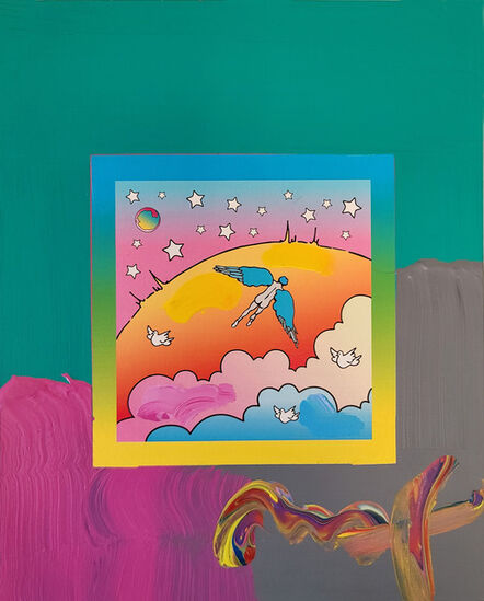 Peter Max, 'Peter Max, Angel Clouds on Blends #409 (Framed Original Painting)', 2009